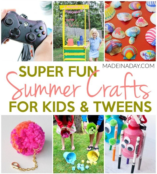 Super fun summer crafts for tweens kids made in a day for Holiday crafts for tweens