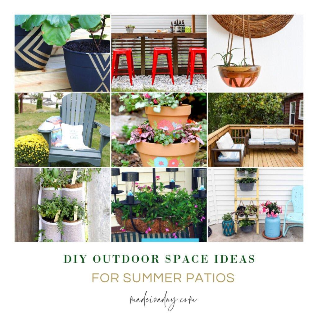 DIY Outdoor Space Ideas for Summer Patios