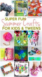 Super Fun Summer Crafts for Tweens & Kids 1