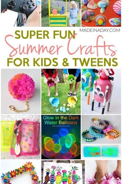 Super Fun Summer Crafts for Tweens & Kids