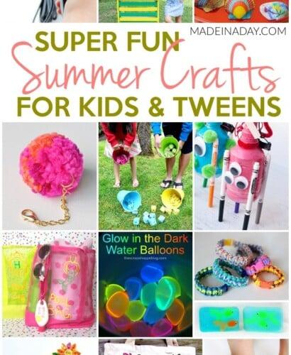 Super Fun Summer Crafts for Tweens & Kids 31