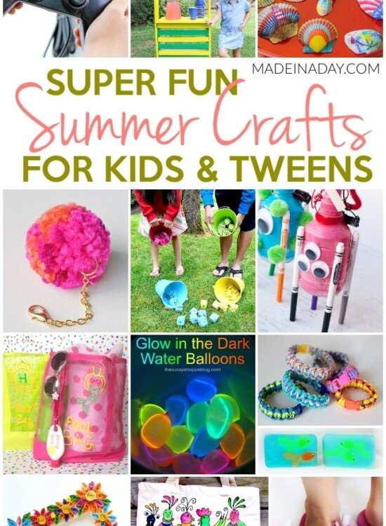 Super Fun Summer Crafts for Tweens & Kids 33