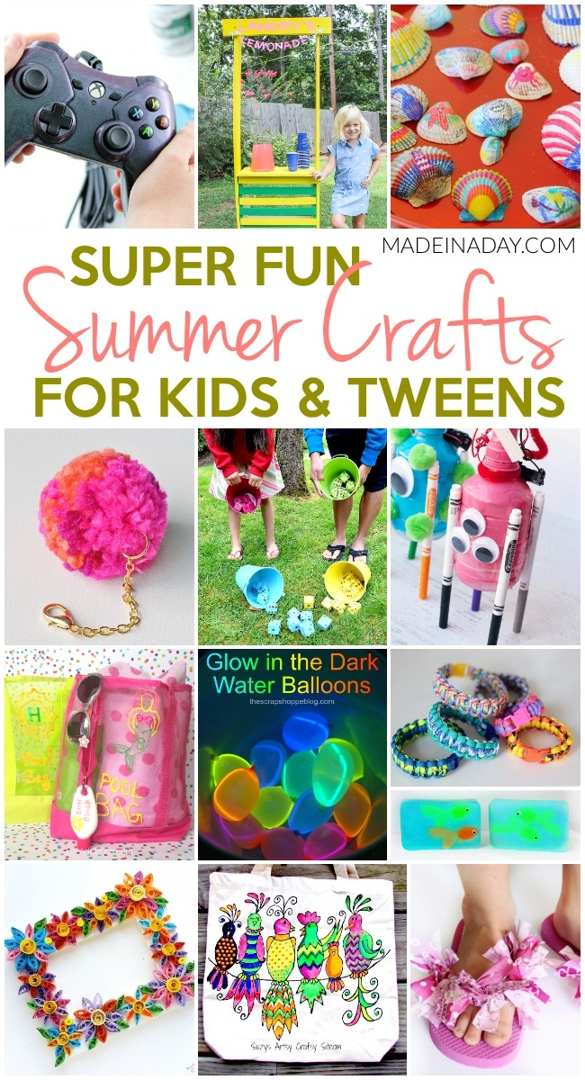 1d7e061c3e35ea Super Fun Summer Crafts for Tweens   Kids • Made in a Day