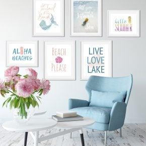 6 Summer Wall Art Printables: Mermaids to Pineapples