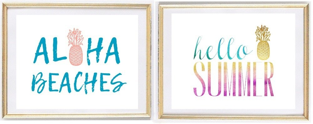 Aloha Beaches, Hello Summer Wall Art