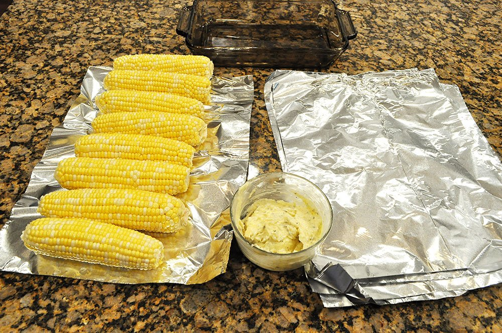 Garlic Herb Butter Grilled Corn on the Cob 2