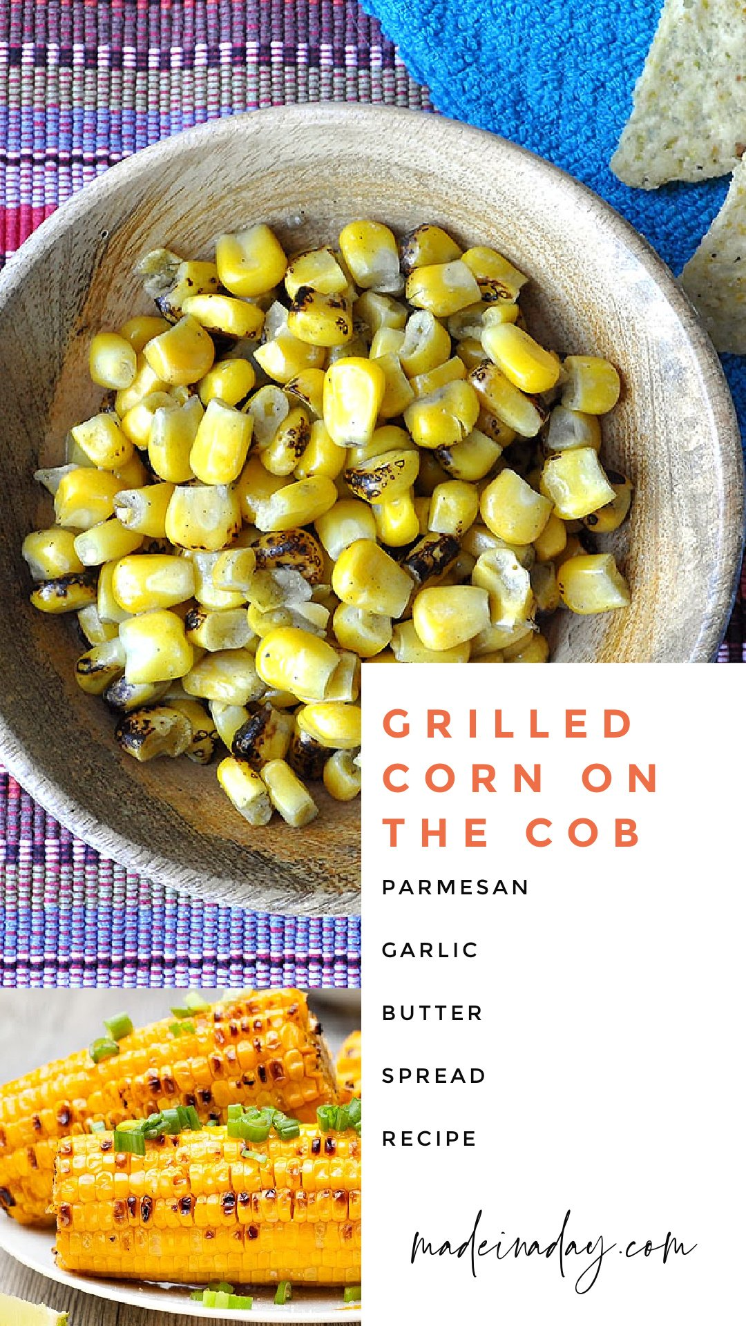 Grilled Corn on the Cob Parmesan and Garlic