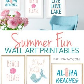 6 Summer Wall Art Printables: Mermaids to Pineapples 1