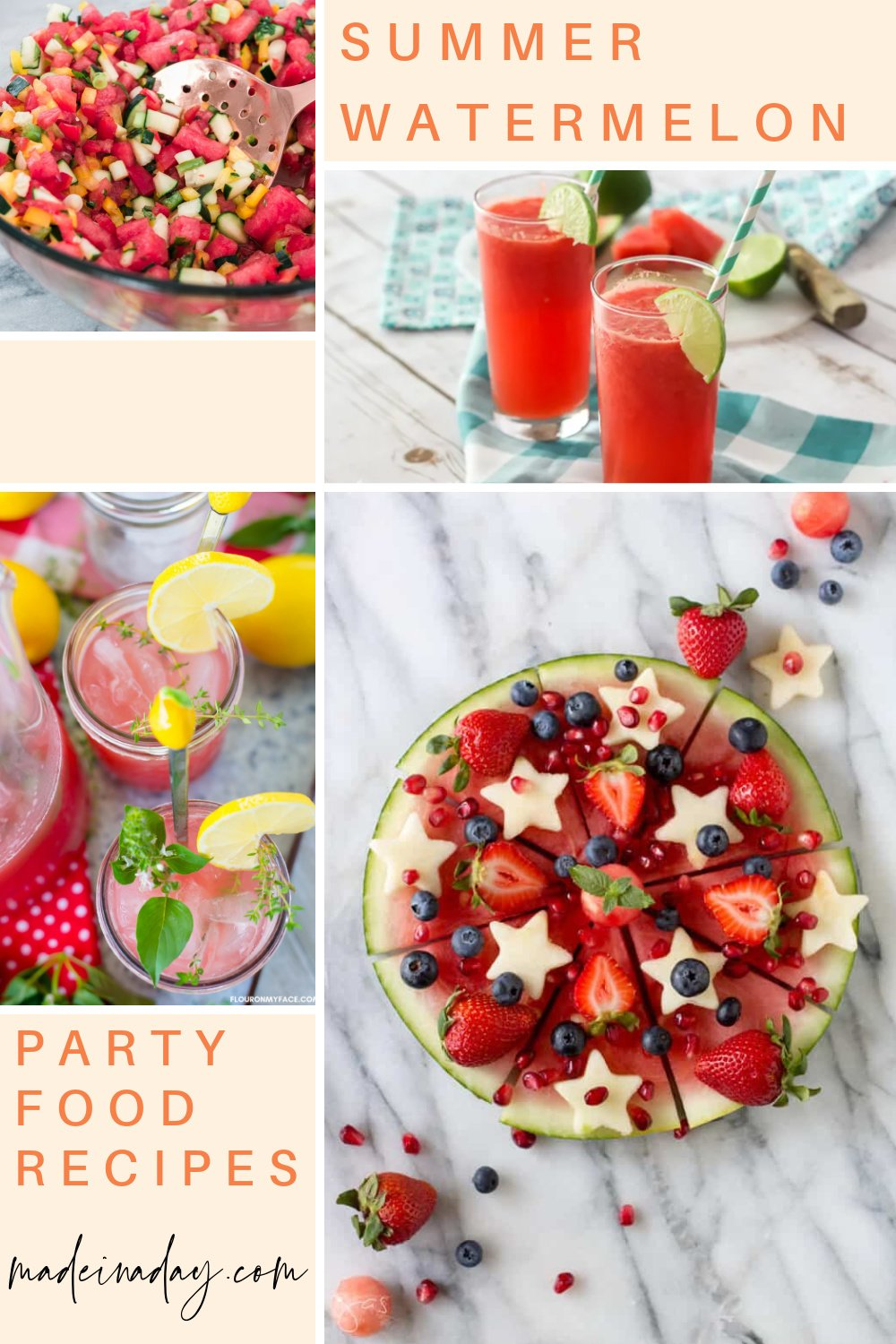 Summer BBQ Watermelon Party Food Recipes