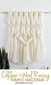 Gorgeous DIY Copper Wool Roving Macrame Wall Hanging 1