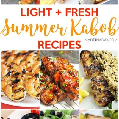 Light Fresh Summer Kabob Recipes