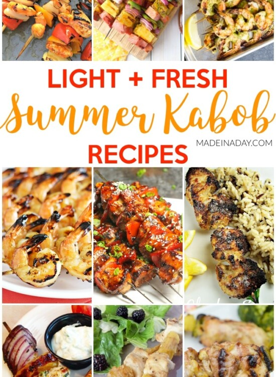 Light Fresh Summer Kabob Recipes 34