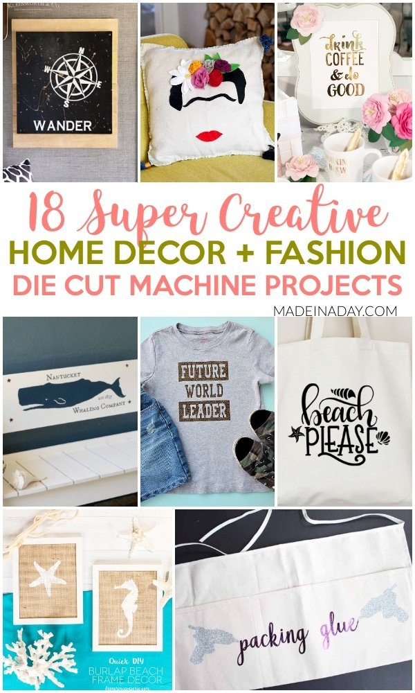 18 Super Creative Die Cut Machine Projects + 9 FREE SVG Cut Files! Darth Vader SVG, Beach Please SVG, Whale SVG, Coffee SVG, Seahorse SVG, Mermaid pillow, gender reveal shirts, back to school shirt, #SVG #Free #cricutfiles #SilhouetteCameo #diecutfiles #DIY