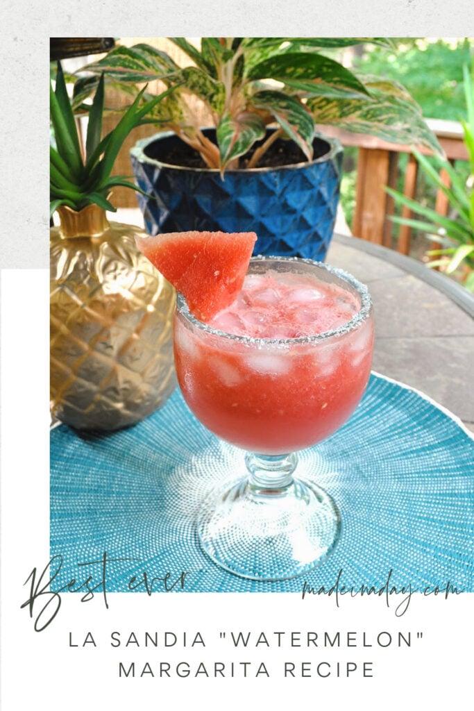 La Sandia -Watermelon Margarita Recipe Easy to Make