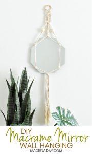 Trendy DIY Bohemian Macrame Mirror Wall Hanging 1