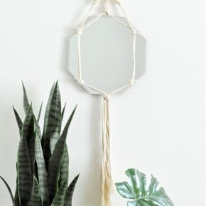 Trendy DIY Bohemian Macrame Mirror Wall Hanging 1