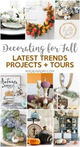 Latest Trends Fall Home Tours + Projects 1
