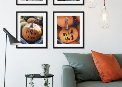 Trendy Fall Pumpkin Wall Art Printables 15