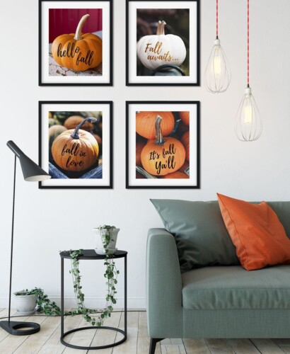 Trendy Fall Pumpkin Wall Art Printables 38
