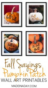 Trendy Fall Pumpkin Wall Art Printables 1