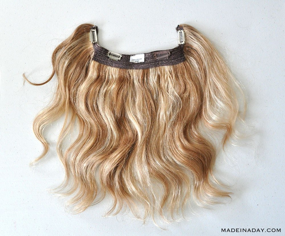 HIDDEN CROWN HALO HAIR IN COLOR LIGHT CARAMEL BLONDE MIX, clip in halo extensions, flip in extensions