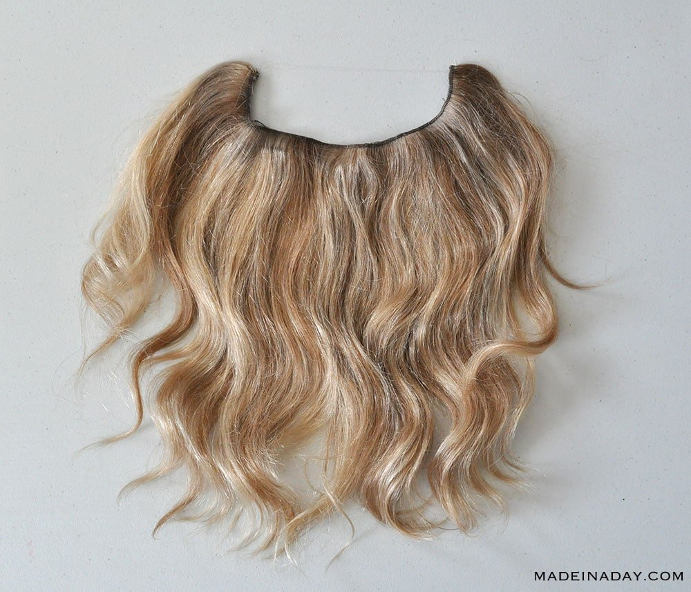 "HIDDEN CROWN DAYDREAM 14"" COLOR LIGHT CARAMEL BLONDE MIX, halo extension review, hidden crown review"