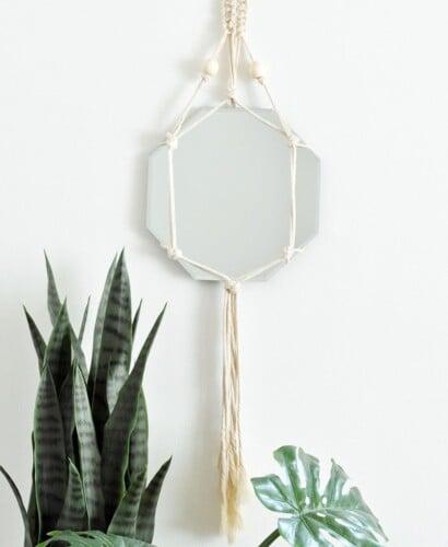 Trendy DIY Bohemian Macrame Mirror Wall Hanging 31