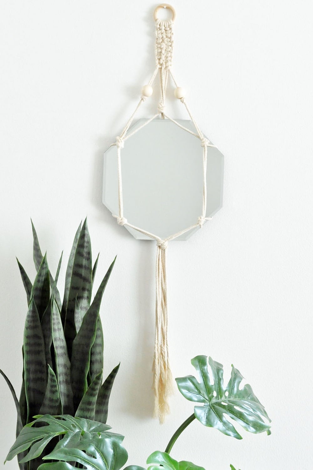 Trendy DIY Bohemian Macrame Mirror Wall Hanging 19