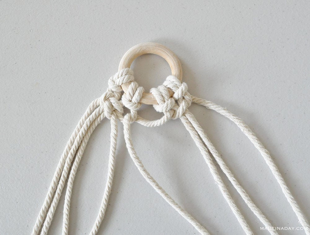 square knot for mirror macrame