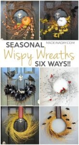 Seasonal Wispy Wreaths: Fall, Halloween & Winter 1