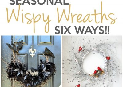 Seasonal Wispy Wreaths: Fall, Halloween & Winter 17