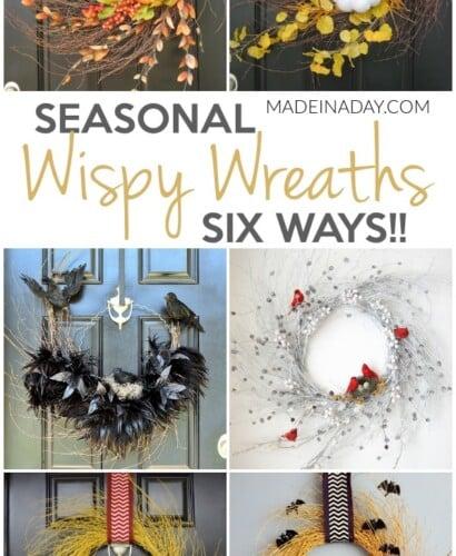 Seasonal Wispy Wreaths: Fall, Halloween & Winter 12