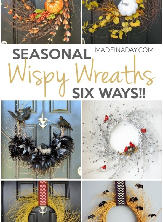 Seasonal Wispy Wreaths 6 Ways 2