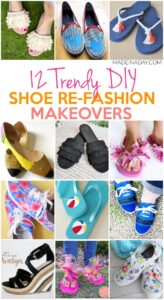 12 Trendy Shoe Refashion Crafty Makeovers 1