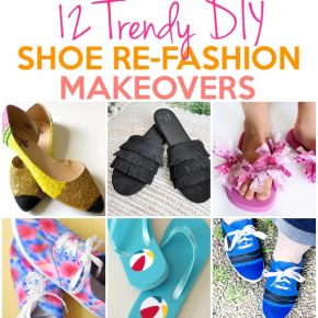12 Trendy Shoe Refashion Crafty Makeovers 1