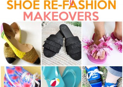 12 Trendy Shoe Refashion Crafty Makeovers 20