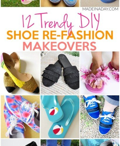 12 Trendy Shoe Refashion Crafty Makeovers 31