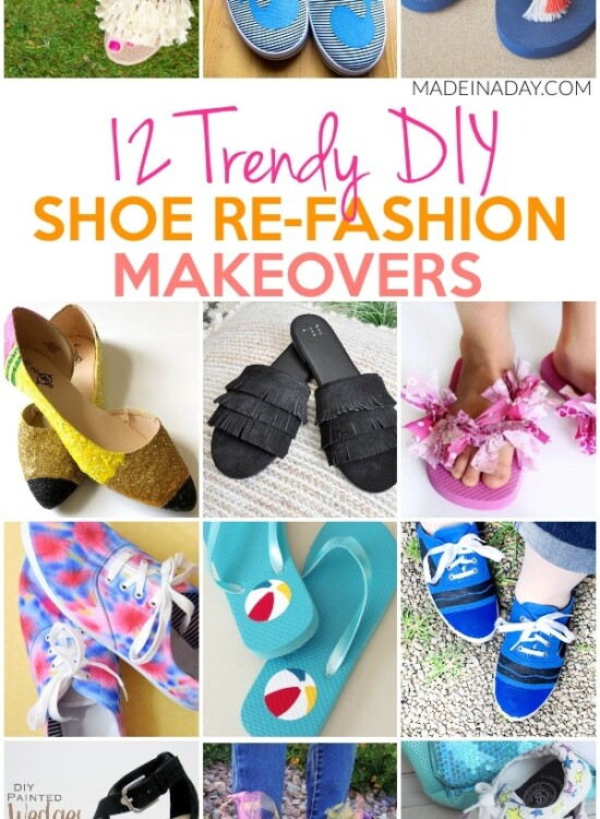12 Trendy Shoe Refashion Crafty Makeovers 32