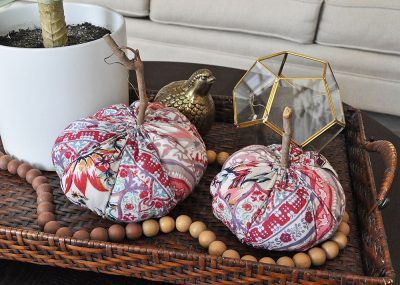 Simple Funky Boho Fabric Pumpkins for Fall 12