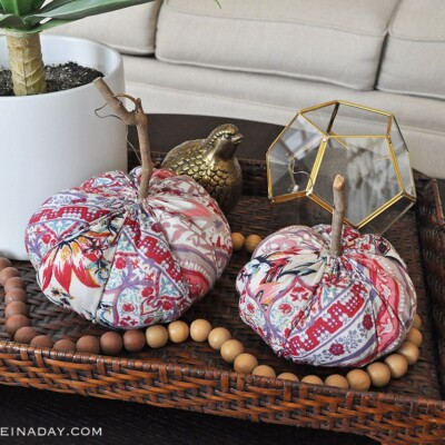 Funky Boho Fabric Pumpkins for Fall