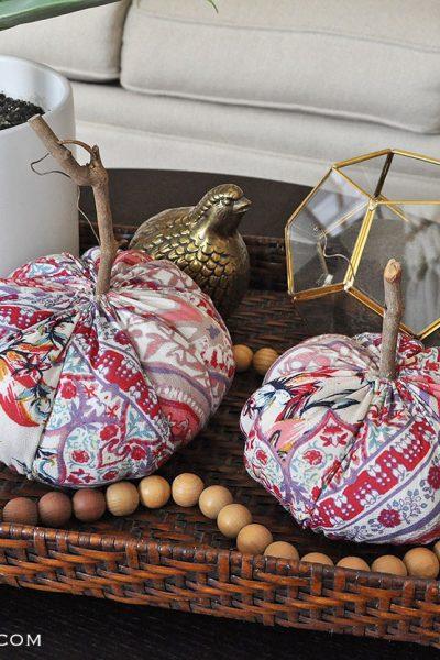 Funky Boho Fabric Pumpkins for Fall
