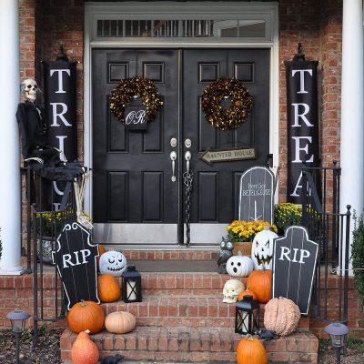DIY Halloween Chalkboard Tombstones