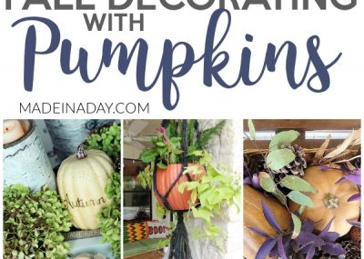 Dazzling Fall Decorating with Pumpkins Around the Home 13