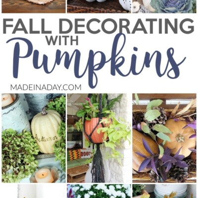 Fall Decorating with Pumpkins Around the Home