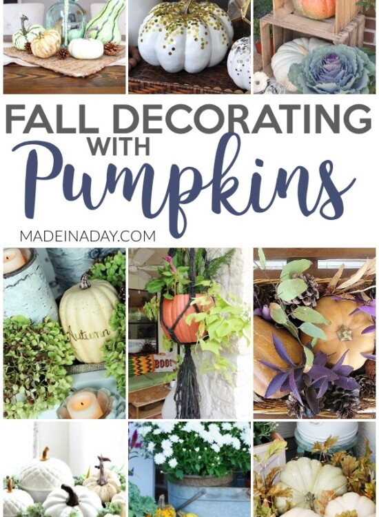 Dazzling Fall Decorating with Pumpkins Around the Home 7