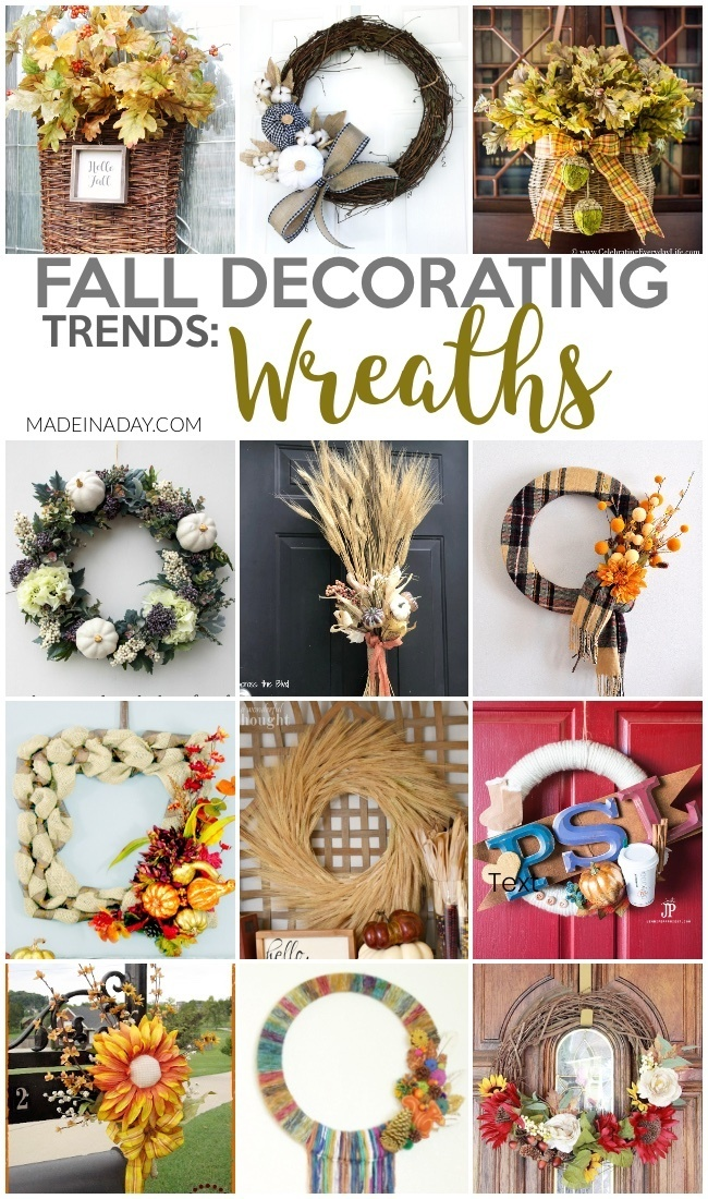 Fall Wreath Design Decorating Trends, Wheat wreaths, fall door hanger, fall basket door hanger, fall mailbox arrangement, scarf wreath, boho fall wreath, coffee wreath, easy fall wreaths, fall ribbon wreaths, fall mesh wreath, #fall #falldecor #fallwreath #falldecorating #wheat #pumpkin #fallleaf #buffalocheck #sunflower #boho