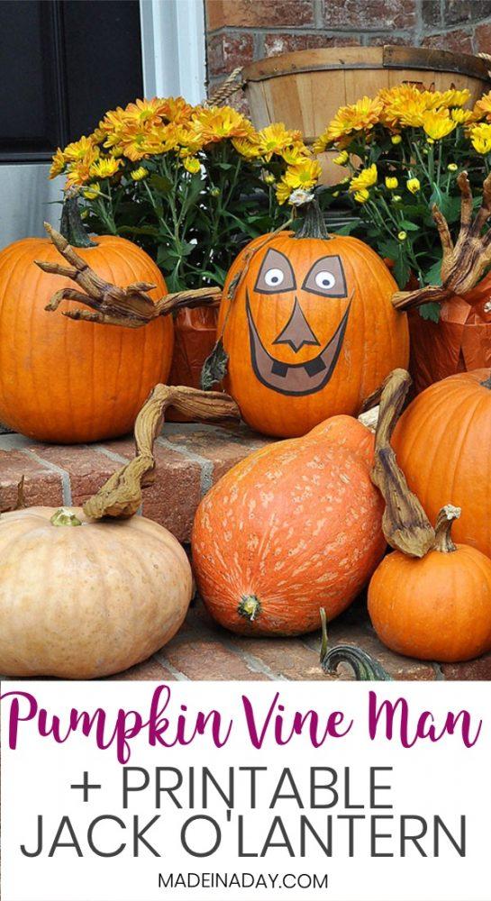 pumpkin man, printable jack o lantern face