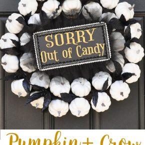 Mesmerizing White Pumpkin Wreath for Fall to Halloween 1