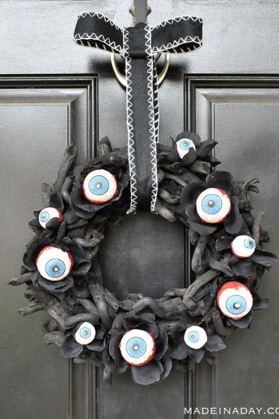 Eyeball Wreath & Pumpkin Man Halloween Decor~ Sponsored