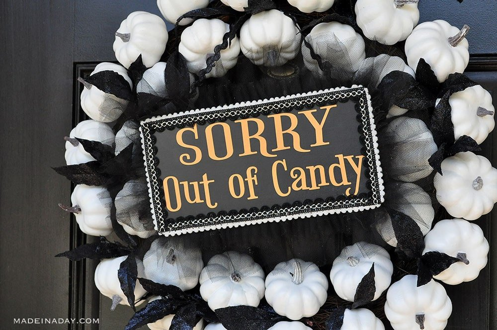 diy sorry out of candy sign